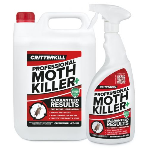 CritterKill Moth Killer Spray - 5L + 1L Free